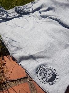 Image of Spirit of '58  Embroidered Jog Shorts Sports Grey