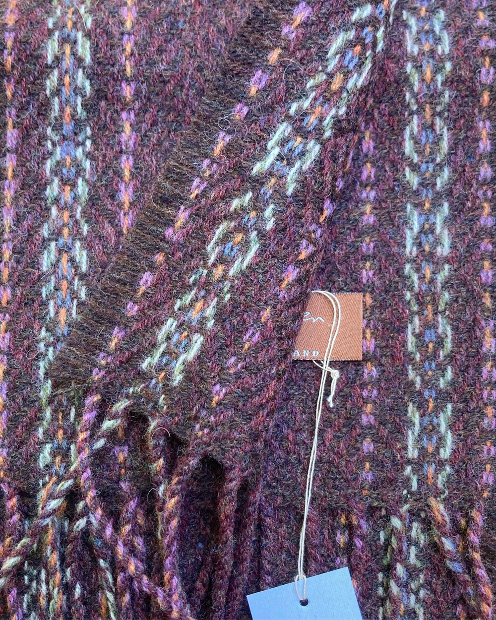 Image of Narrow Berry & Peat 'Gatsby' scarf