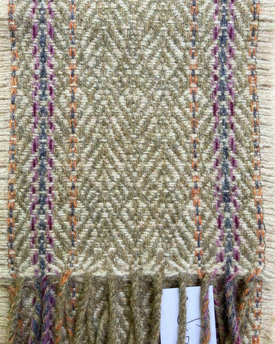 Image of Narrow Sand & Catkin 'Gatsby' scarf