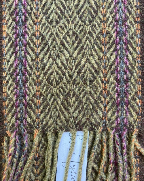 Image of Narrow Sand & Peat 'Gatsby' scarf