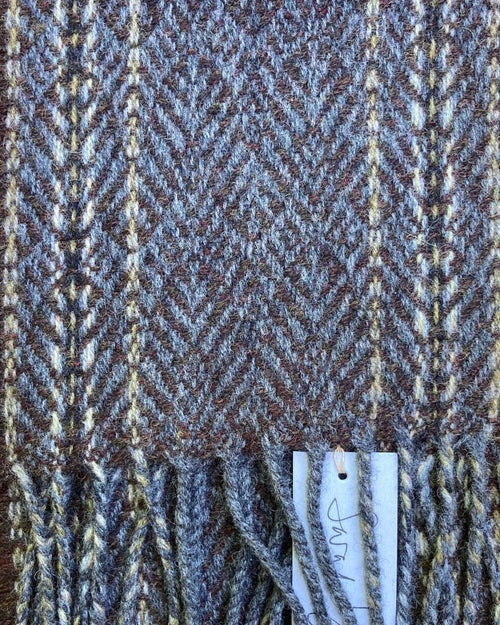 Image of Narrow Stone & Peat 'Gatsby' scarf