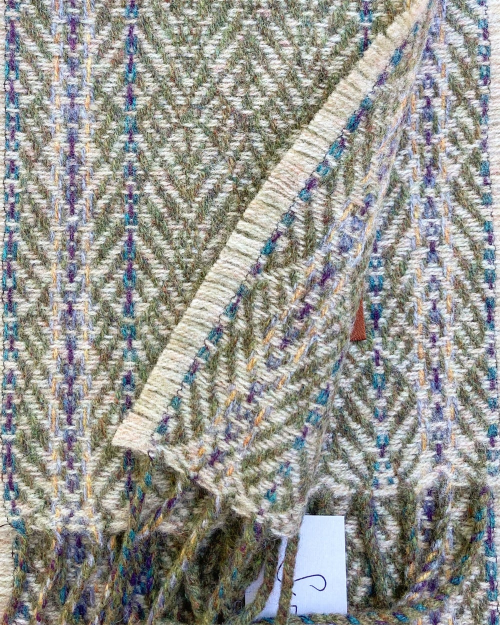 Image of Narrow Moss & Catkin 'Gatsby' scarf