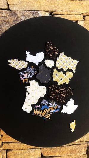 Image of Carte de France des Régions en tissu décoration murale