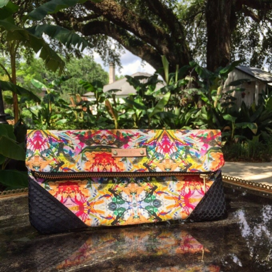 Image of Freida clutch Black Python