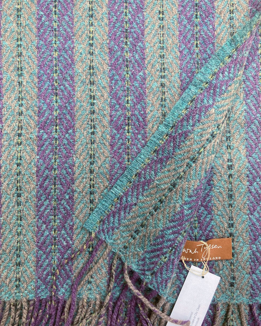Image of Wisteria & Teal 'Chrysler' scarf