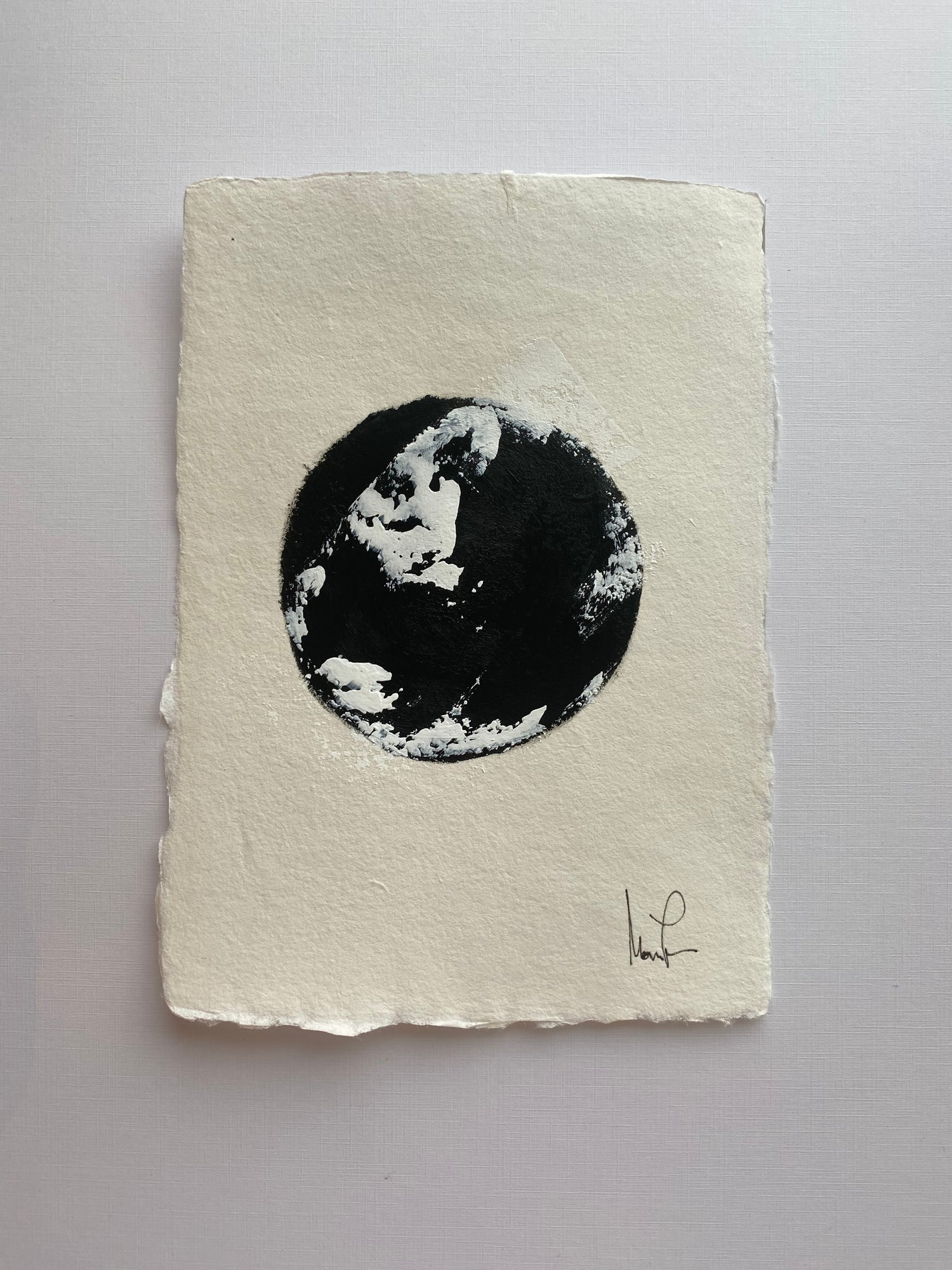 Image of ML Black and White Collection (1a)  5x7 Handmade Paper