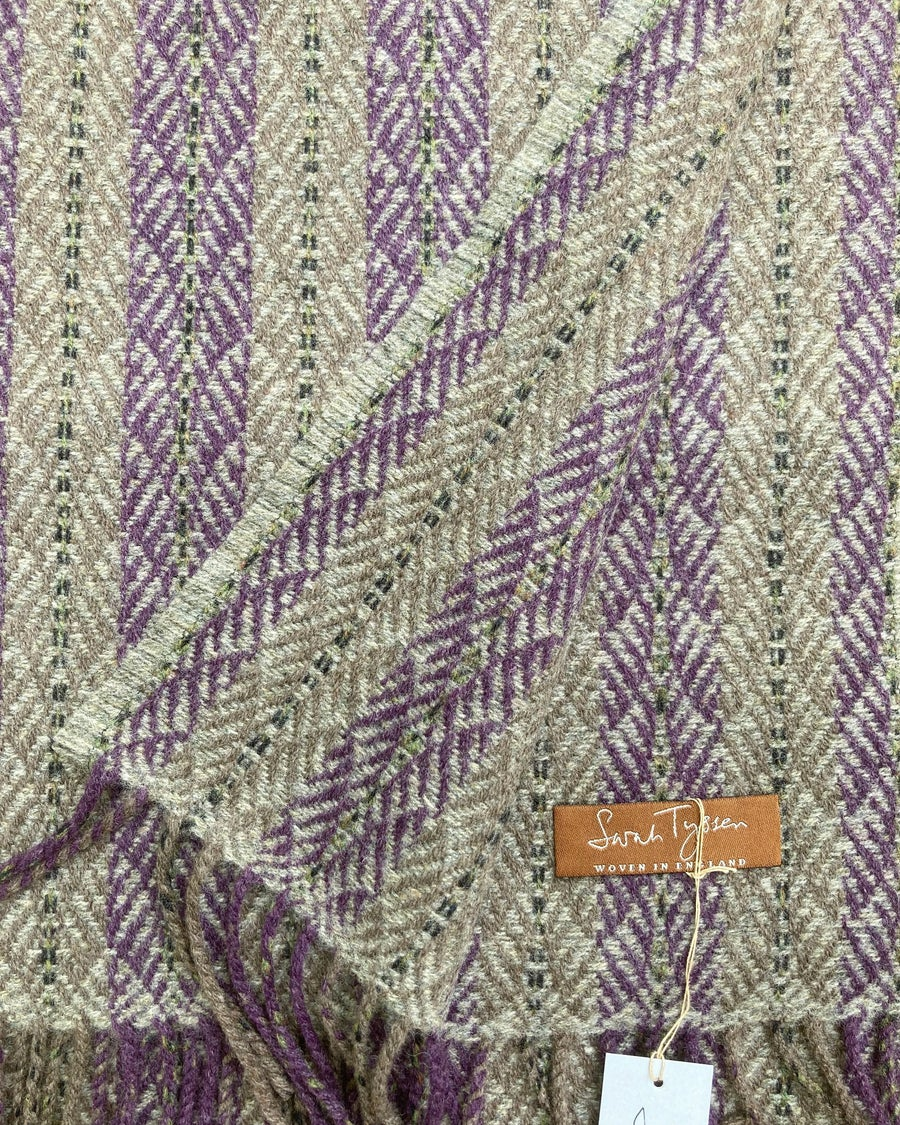 Image of Wisteria & Pebble 'Chrysler' scarf