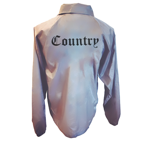 Image of Country Graphite Nylon Coach's Jacket