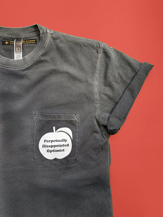 Image of Perpetually Disappointed Optimist pocket tee - unisex
