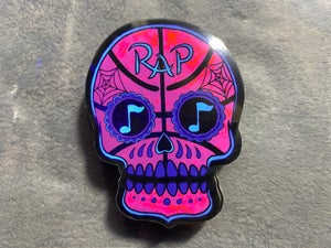 Image of Rap Basketball Halloween Sugar Skull Sticker