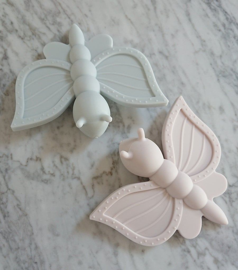 Image of Silicone Butterfly baby teether