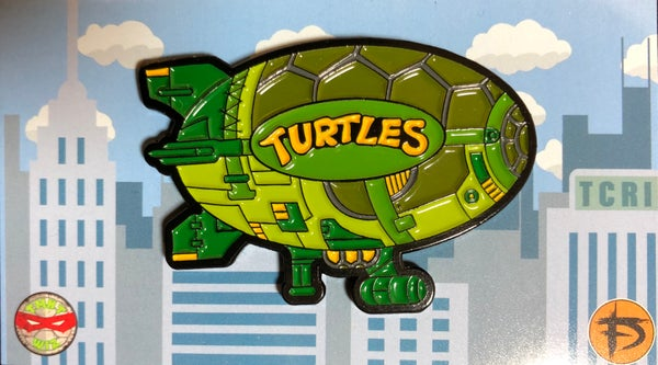 "Image of 2"" Turtle Blimp Soft Enamel Pin (Playmates)"