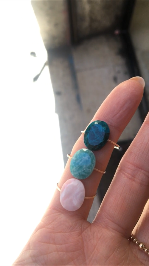 Image of Bague Ulla amazonite