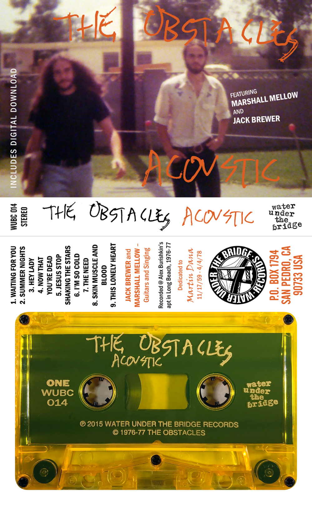 THE OBSTACLES - Acoustic 1976 → cass (precursor to Saccharine Trust)