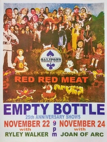Image of Califone and Red Red Meat reunion poster