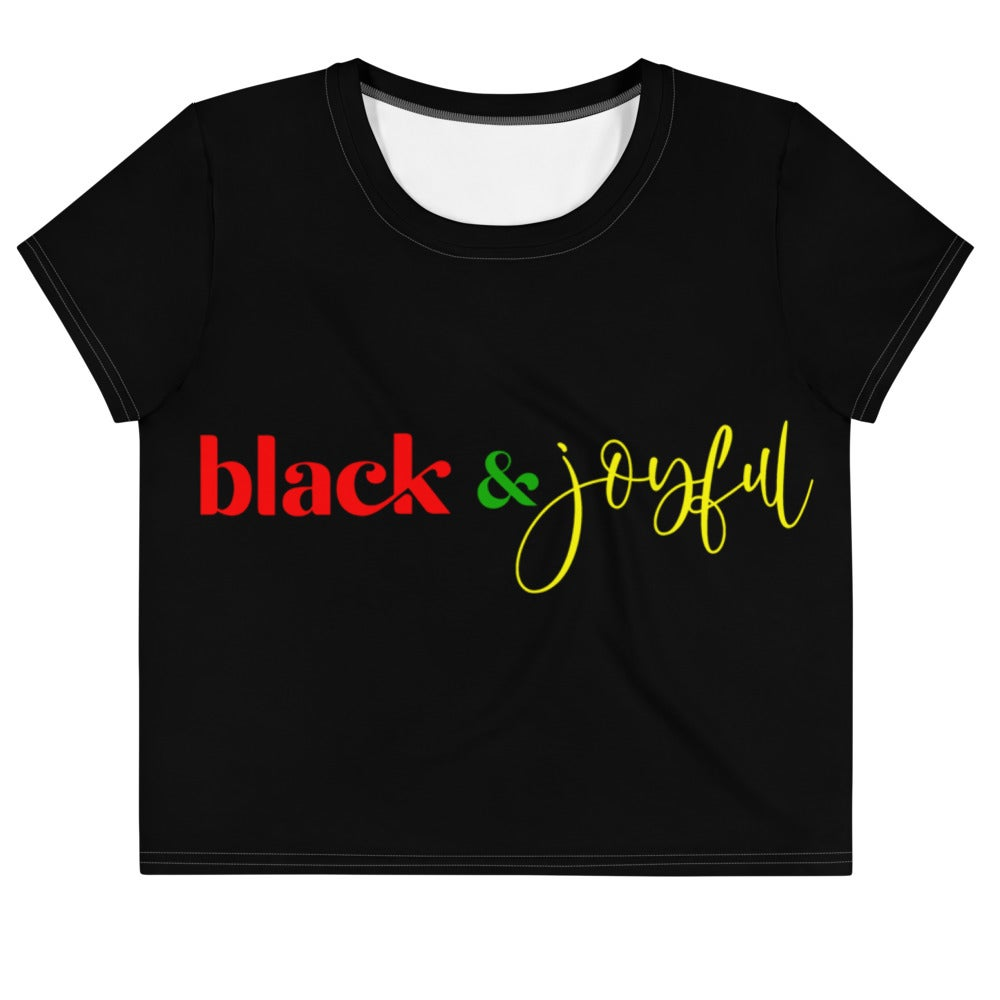 Black & Joyful Crop Tee
