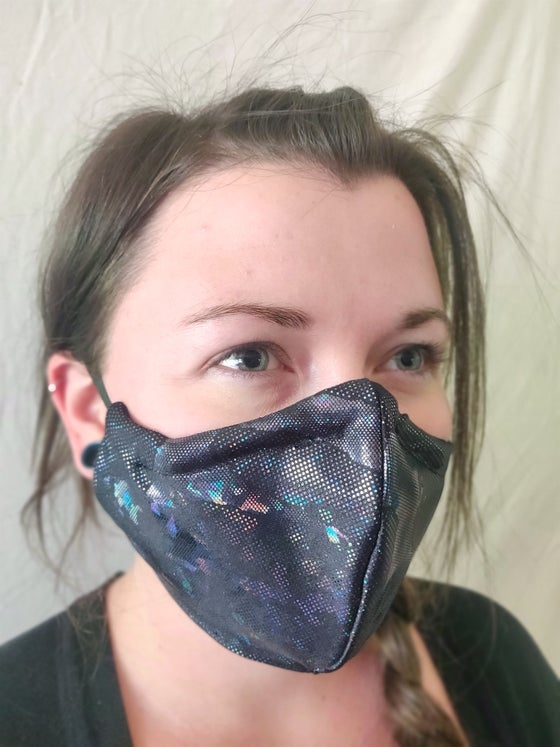 Image of Black Lizard Cotton/Spandex Face Mask