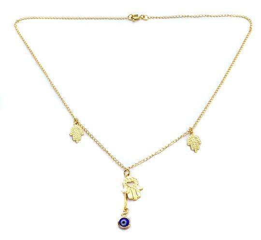 protect me hamsa necklace
