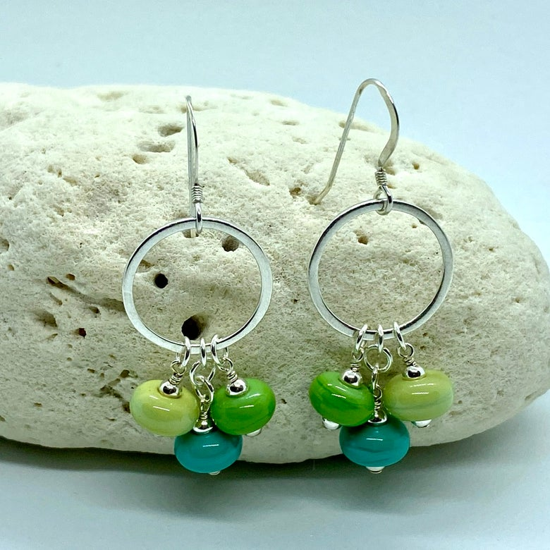 Image of Keele River Triple Earrings