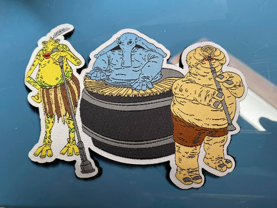 """Image of Max Rebo Band Woven Patch 5"""" Wide  - IN STOCK"""