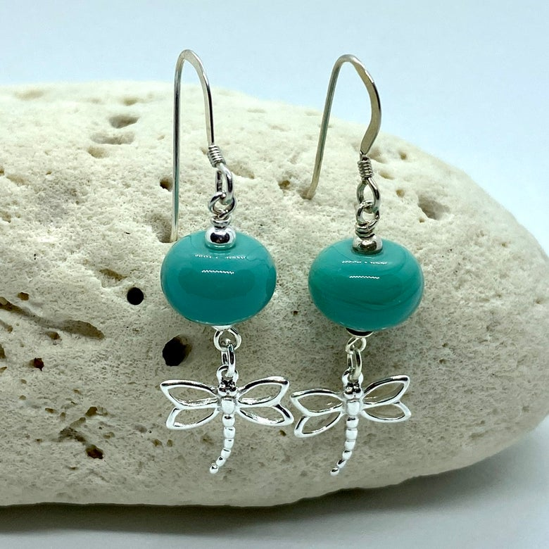 Image of Keele River Dragonfly Dangle Earrings