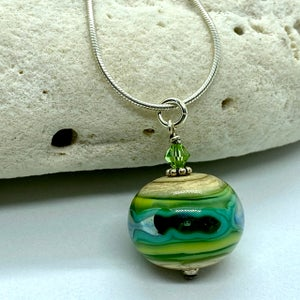 Image of Keele River Bobble Necklace (with crystal)