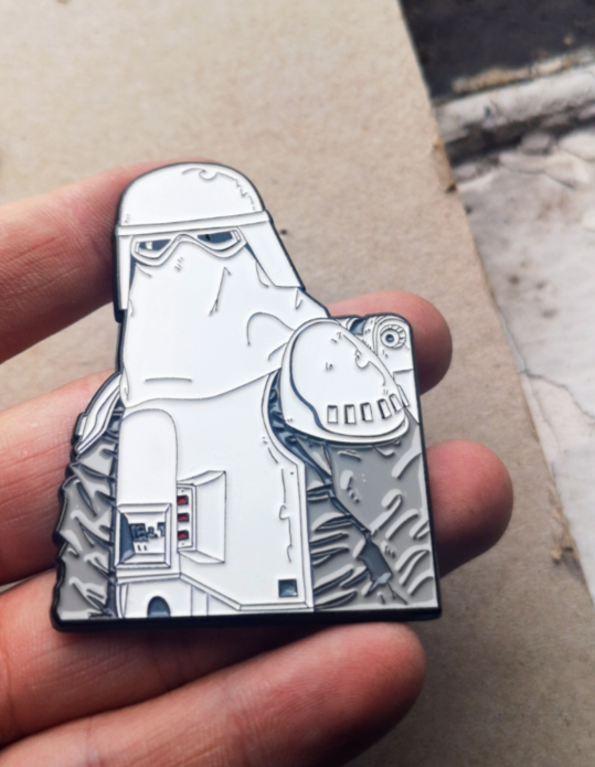 "Image of Imperial Snowtrooper 2.5"" Tall Bust Lapel Pin #2 in Series"