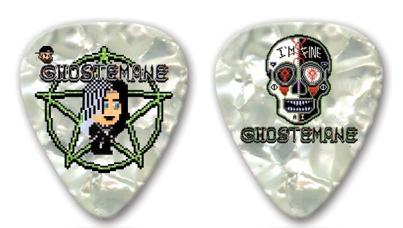 Image of Ghostemane / I'm Fine Sugar Skull (Limited Edition) Double-Sided  Guitar Pick