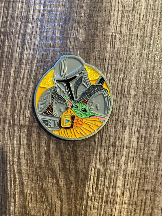 "Image of The Child & The Mandalorian 2"" Lapel Pin"