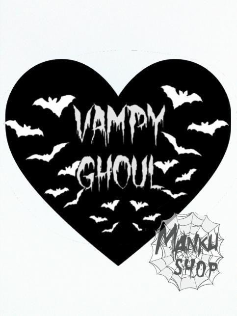 Image of Vampy Ghoul Heart Pin