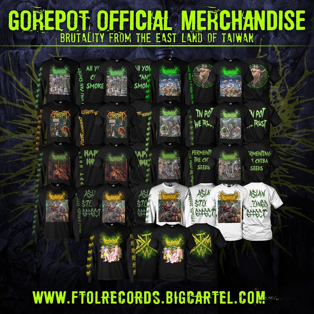 Image of *PREORDER* Officially Licensed Gorepot Full Color Album Cover Short and Long Sleeve Shirts!!