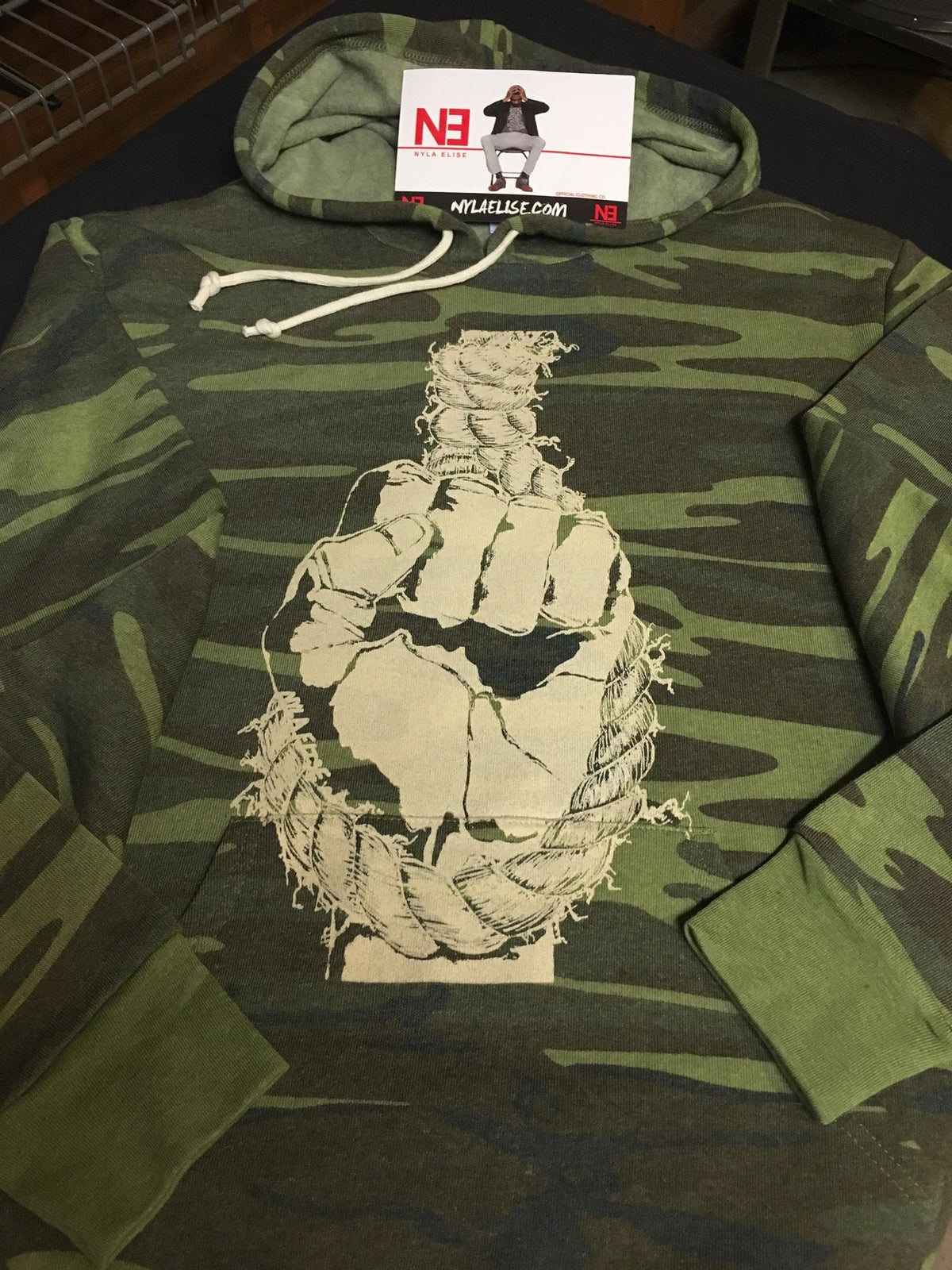 "Image of ""FIST"" (Camouflage) Hoodie"
