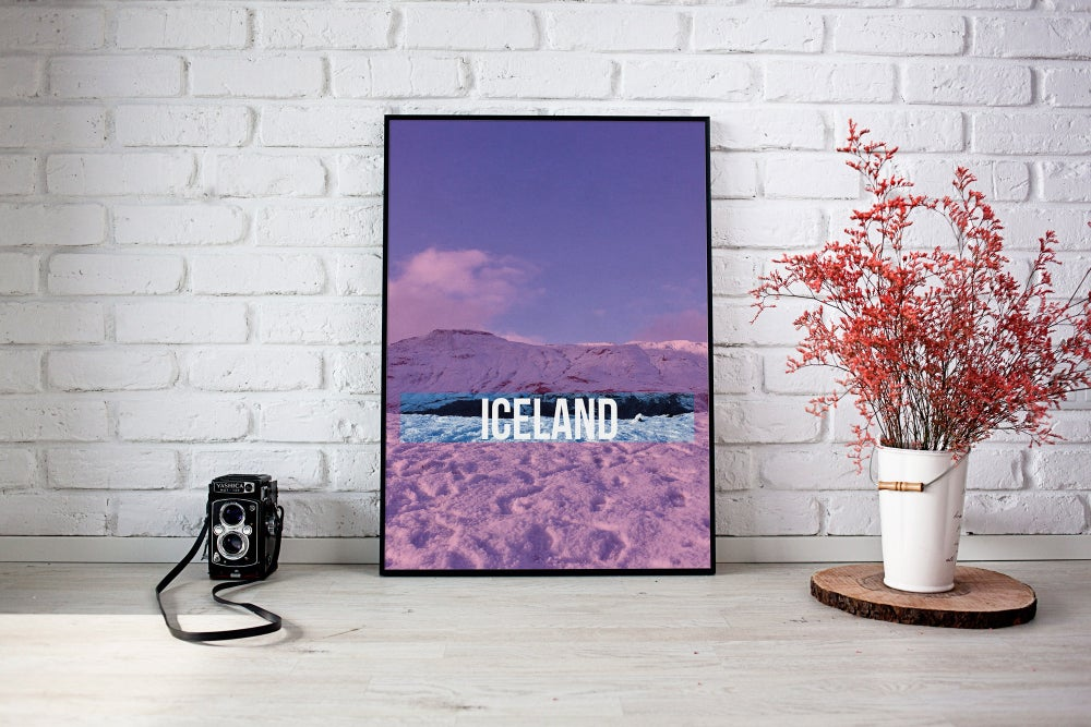 Iceland Pink and Blue