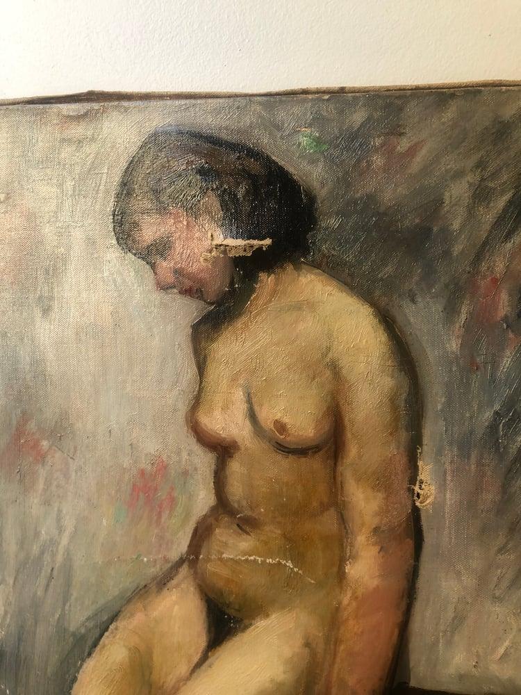 Image of Scène de nu à l'huile