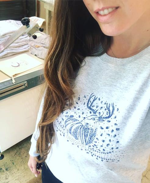 Image of Sweat-Shirt Femme *Deer & Bird*
