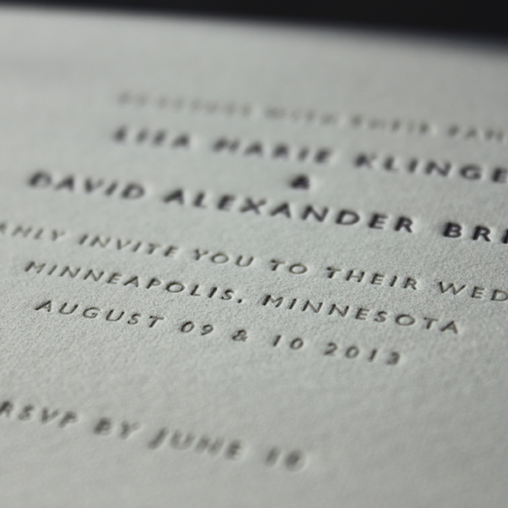 Image of CHARLOTTE & PAUL Wedding INVITATIONS Letterpress