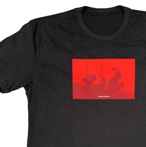 Image of Protect Your Neck Black Tee - Red