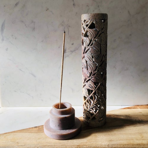 Image of Hand Carved Incense Tower