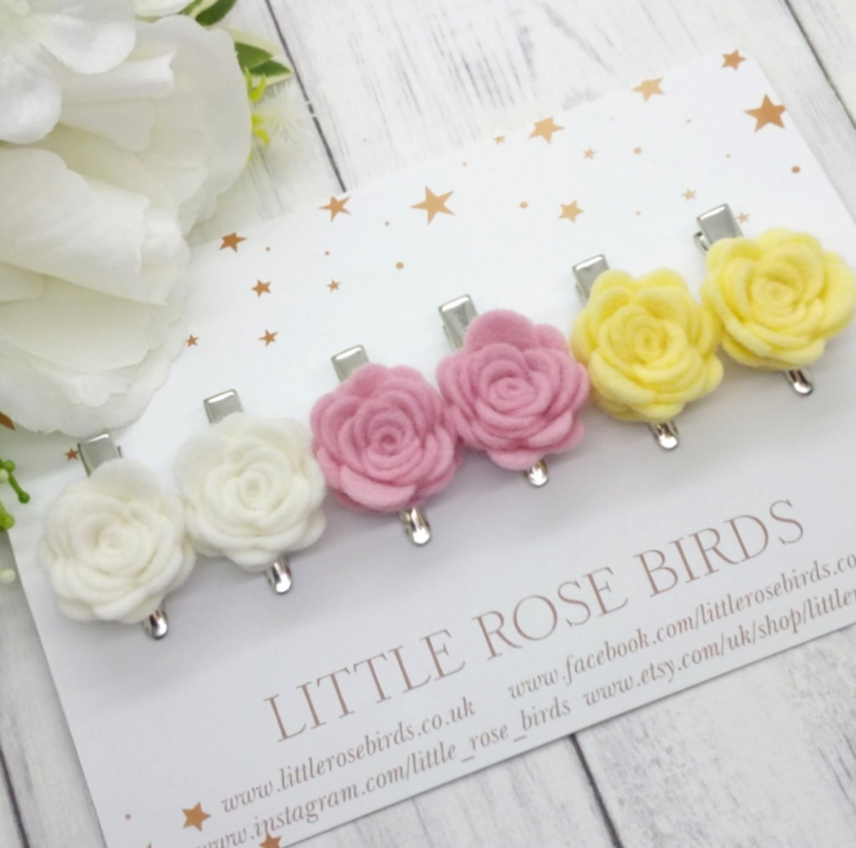 Image of CHOOSE YOUR OWN - Small Rose Pigtail Set - Choice of 52 Colours