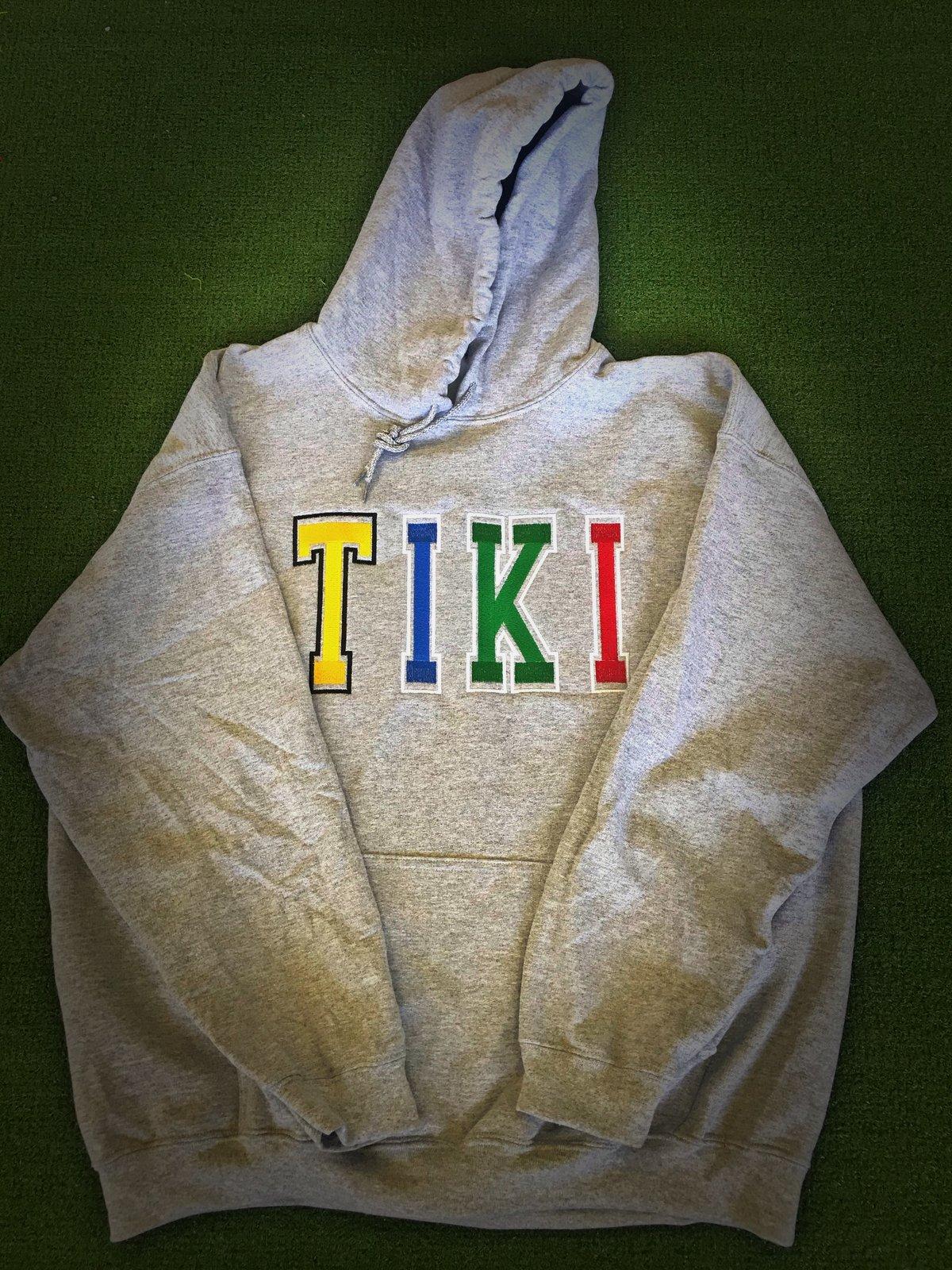 Image of TIKI VARSITY FONT HOODIE(Grey)