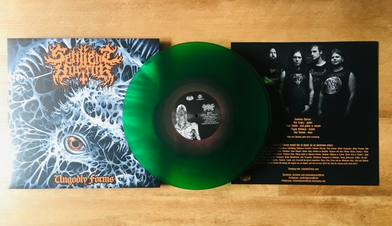 Image of Sentient Horror • Ungodly Forms (Grimace Purple inside Transparent Green Vinyl)
