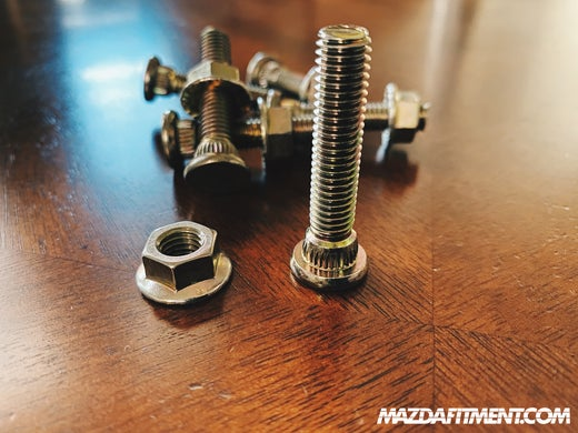 MAZDA FITMENT - 1ST/2ND GEN MZ3/MS3/MZ5 EXTENDED STUDS