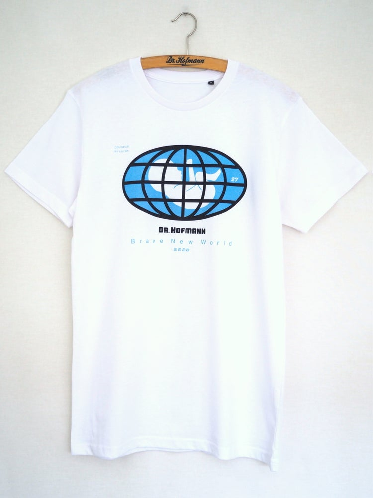 "Image of ""BRAND NEW WORLD Covid19"" tee - Special Edition  - Organic cotton - White"