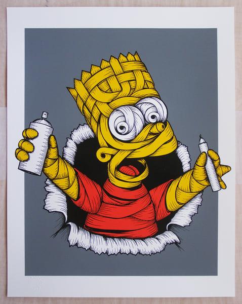 Image of Otto Schade - Ribboned Bart (grey background)