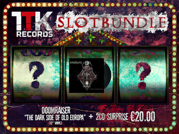 Image of SLOT-BUNDLE // JACKPOT 2: DOOMRAISER (LP) + 2 CD Jolly Surprise