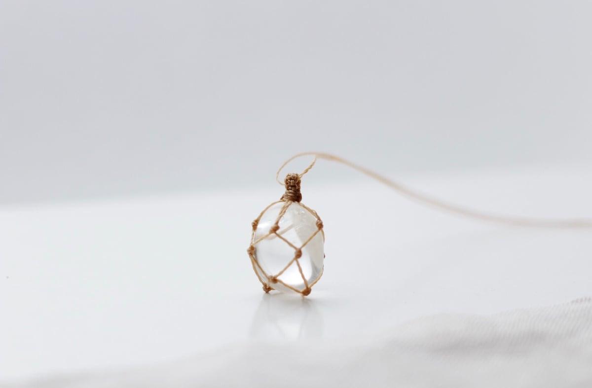 Image of Clear Crystal Quartz pendant