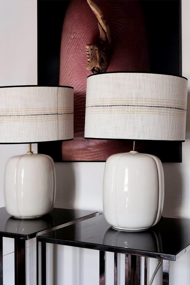 Image of Pareja de lámparas de cerámica valenciana