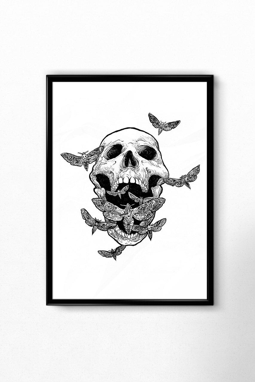 "Image of ""Moth Scream"" - SIGNED PRINT"