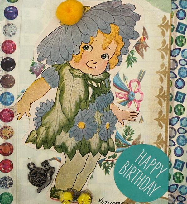 Image of flower girl birthday