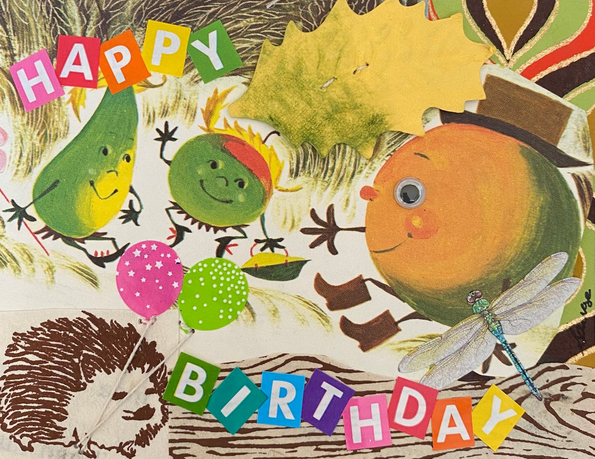 Birthday playful fruit